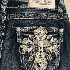Worn Once! Grace in LA bootcut jeans